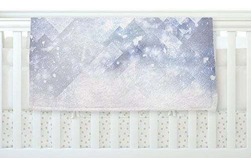 KESS InHouse Ulf Harstedt Even Mountains Get Cold Blue White Fleece Baby Blanket 40 x 30 [並行輸入品]   B077YW9V2P