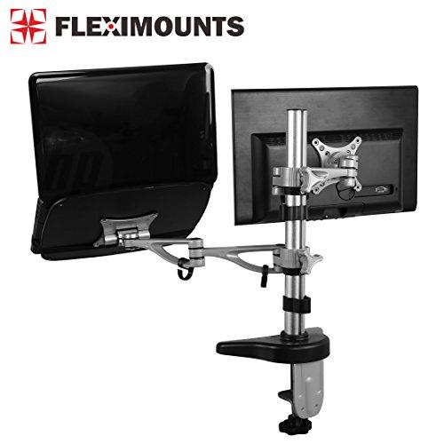 fleximounts Dual brazo de LCD Arm Desk Mount Soporte de Moni