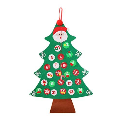[해외]크리스마스 출현 달력 크리스마스 장식을위한 크리스마스 카운트 다운 달력을 매달려 (녹색) / Christmas Advent Calendar Hanging Christmas Countdown Calendar for Christmas Decorations (Green)