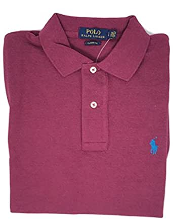 Polo Ralph Lauren Classic Fit Mesh Pony Logo Polo Shirt S, Red hth)