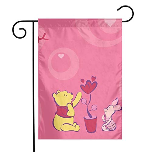 (LIUYAN Garden Flag - De Winnie Pooh Unique Decorative Outdoor Yard Flags for Your Home 12 X 18 Inches)