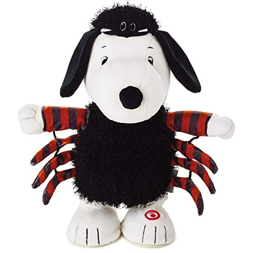 Hallmark Peanuts Snoopy Spider Musical Stuffed Animal With Motion Interactive Stuffed Animals Movies & TV -