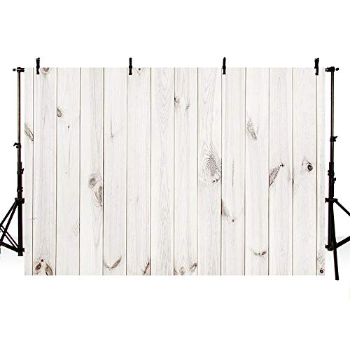 - MEHOFOTO 7x5ft White Wood Portrait Wooden Backdrops Props for Photography Wood Floor Wall Background for Photographer