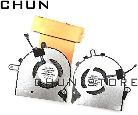 FCQLR New GPU CPU Cooling Fan Compatible for HP Omen 15-CE 15-CE000 15-CE010CA 15-CE020CA 15-CE030CA 15-CE051NR NFB76A05H-001 929455-001 /& 929456-001