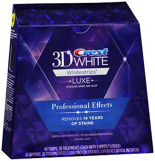 Crest 3D No Slip Whitestrips Professional Effects Teeth Whitening Kit 20 ea (Pack Of 3)