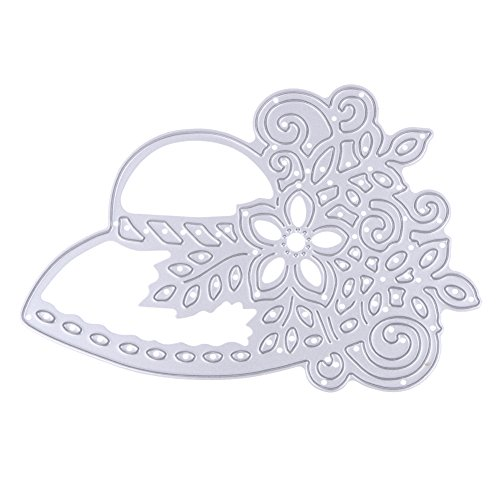- Lady's Hat Flower Leaves Visor Topper Metal Cutting Dies Stencils For Scrapbook Card Frame Envelope Decorative Steel Cut Dies
