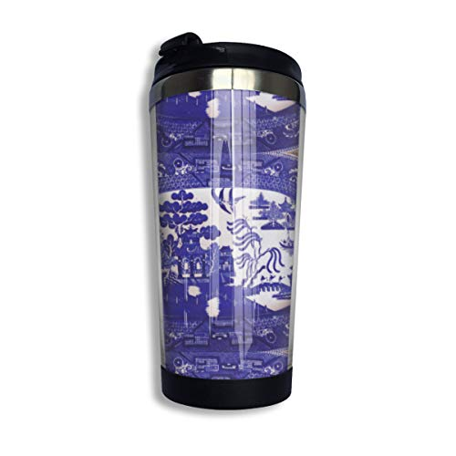 CLD Custom Blue Willow Socks Carve Vacuum Insulated Stainless Steel Water Bottle Travel Mug Coffee Cup