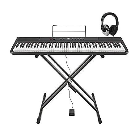 Piano de Escenario SDP de Gearmusic  Soporte Pedal y Auriculares