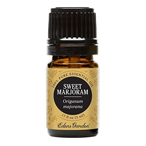 Sweet Marjoram Essential Oil (100% Pure, Undiluted Therapeutic/Best Grade) Premium Aromatherapy Oils by Edens Garden- 5 ml ()