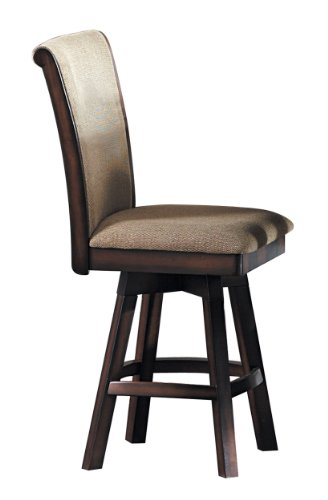Homelegance 626-24SW Swivel Counter Height Chair, Warm Oak Finish, Set of (Oak Finish Counter Height Chairs)