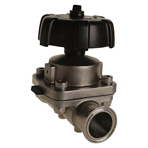 Diaphragm Valve | Tri Clamp 1.5 inch - Stainless Steel SS316 / EPDM/PTFE - Glacier Tanks - (2 Pack) ()
