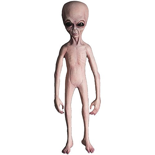 4-1/2' Alien Foam Filled Latex Skin Halloween Prop -