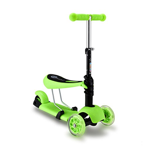 Kids Scooter Removable Wheels Green product image