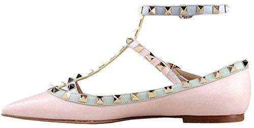 Calaier Mujer Cahouse Plataforma 0CM Sintético Hebilla Sandalias de vestir Zapatos Rosa