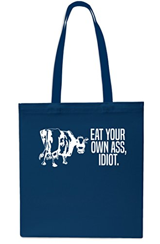 Shopping Your 10 Small litrest Beach Own Idiot Tote Bag Gym Eat Navy x38cm 42cm Black Ass PwadPX