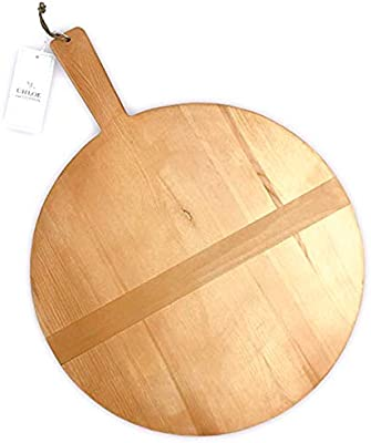 Amazoncom Chloe And Cotton Large Round Pine Wood Bread Board 17