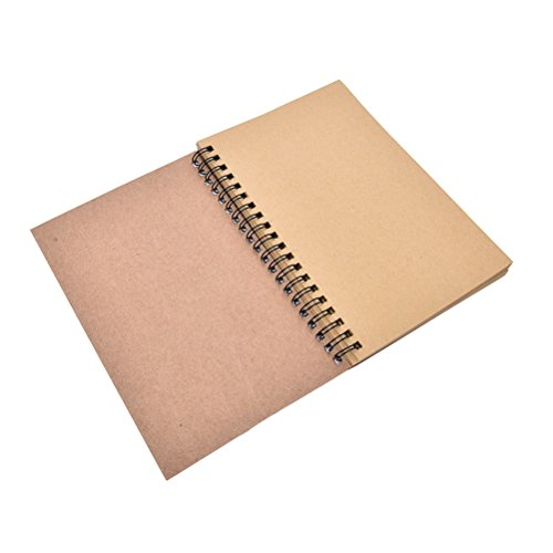1Pc Spiral Bound Coil Sketch Book Pads Marker Sketchpad Sketching Painting Notebook for Artists Student Drawing Sketchbook for Art Watercolor Acrylics Kraft Paper by Jiabetterniu Bamboo Drawing Charcoal