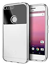 Cimo Google Pixel Case, [Grip] Premium Slim Protective Cover for Google Pixel (2016) - Clear