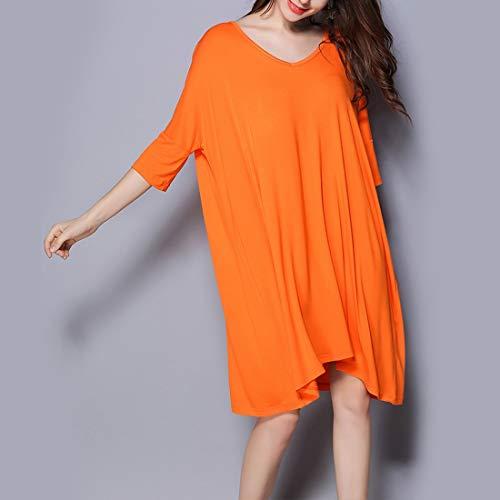 Allattamento notte Abito Allentato Plus Gray a seno Size donna L shirt Amabubblezing Camicia Size Orange pigiameria T scollo allattamento al Color V da 7wqxT