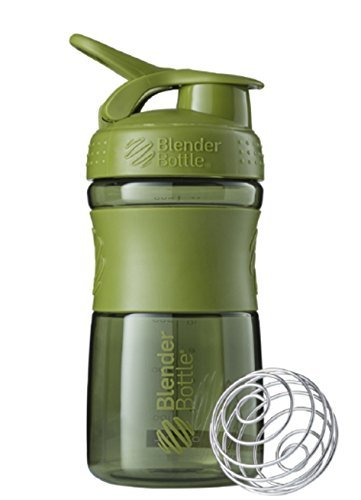 New Blender Bottle SportMixer 20 oz. Moss Green Bottle Tritan Grip Full Colors Assorted