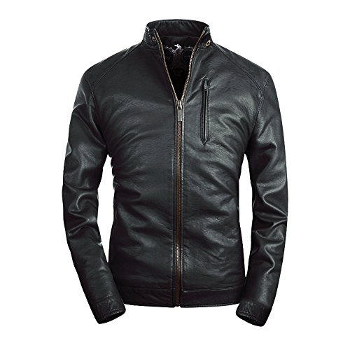 Buy dress leather jacket mens - 2