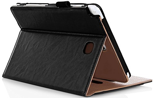 ProCase-Samsung-Galaxy-Tab-A-80-Case---Standing-Cover-Folio-Case-for-2015-Galaxy-Tab-A-Tablet-80-inch-SM-T350-P350-with-Multiple-Viewing-angles-auto-SleepWake-Document-Card-Pocket-Black
