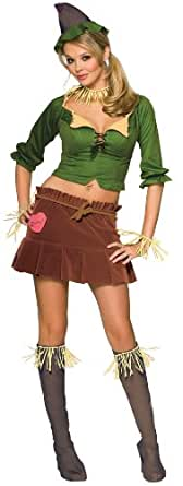 Secret Wishes  Women's Wizard of Oz Scarecrow Costume, Green/Brown, Small