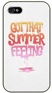 iPhone 5C Got that summer feeling - black plastic case / Life quotes, inspirational and motivational / Surelock Authentic