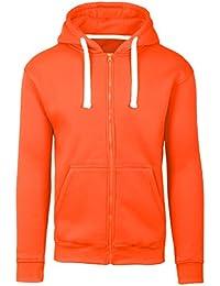 1a0177c29f42 Mens Hipster Hip Hop Basic Zip-up Hoodie Jacket (Upto 6XL Plus)