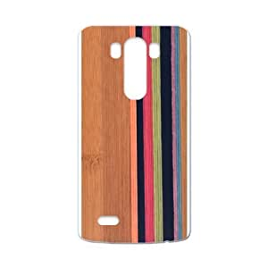 Canting_Good Simple Stripes Wood Custom Case Cover Shell for LG G3 (Laser Technology)