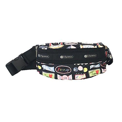 LeSportsac Double Zip Belt Bag Waist Pack, Sweet Talk