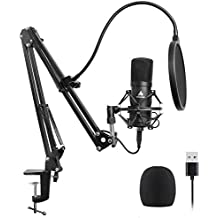 USB Microphone Kit 96KHZ/24BIT Plug & Play MAONO AU-A04 USB Computer Cardioid Mic Podcast Condenser Microphone with Professional Sound Chipset for Laptop PC Karaoke, Skype, YouTube, Gaming Recording