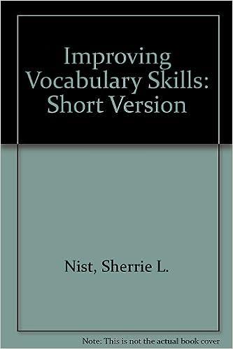 Improving vocabulary skills short version sherrie l nist improving vocabulary skills short version 3rd edition fandeluxe Choice Image