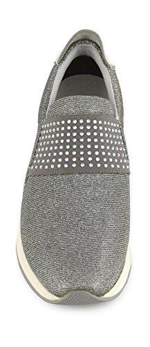 CAFèNOIR CAF NOIR DA945 mujer zapatos de plata sheakers bajo deslizamiento sobre elástica 204 ARGENTO