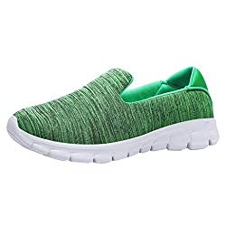 Other Sey Womens Shoes Summer And Spring Fashion Casual Solid Sport Breathable Lightweight Slip On Shoes Sneakers Green