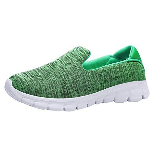 Dressin Womens Fashion Casual Solid Sport Breathable Lightweight Slip On Shoes Sneakers ()