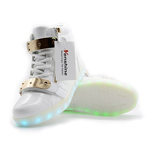 VENSHINE LED Light Up Shoes 11 Colors High Top Flashing