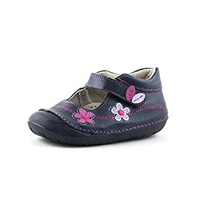 NATURA-POPPY | Wobbly Waddlers | Baby Girl Leather Shoes | First Walkers Support | Size 3-7 Toddler