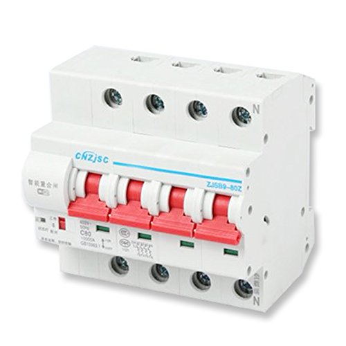 (CNZJSC Wifi Smart Circuit Breakers MCB Compatible with Alexa (4P-125A))