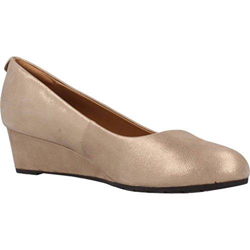 Zapatos bailarina para mujer, color gold , marca CLARKS, modelo Zapatos Bailarina Para Mujer CLARKS VENDRA BLOOM Gold Beige