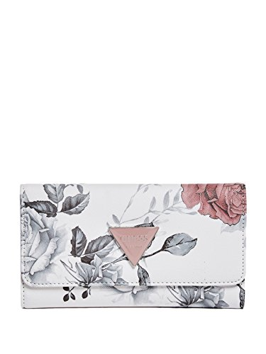 GUESS Factory Women's Abree Floral Slim Button Snap Wallet