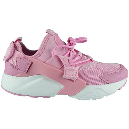 Loud Look Womens Ladies Running Trainers Lace up Flat Comfy Fitness Gym Sports Shoes Size 3-8 Pink Y4ymrnl