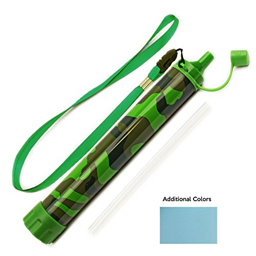 Best Portable Water Filter (BEST Water Filter Straw for Camping, Hiking, Hunting - 50% More Filtration than Lifestraw - Lightweight Survival Filter - No Added Taste - Removes Heavy Metals & 99.9% of Waterborne Bacteria)