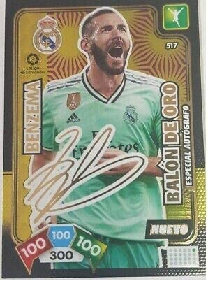 Panini Benzema Firmado Balón de Oro Adrenalyn XL 2019-2020: Amazon ...