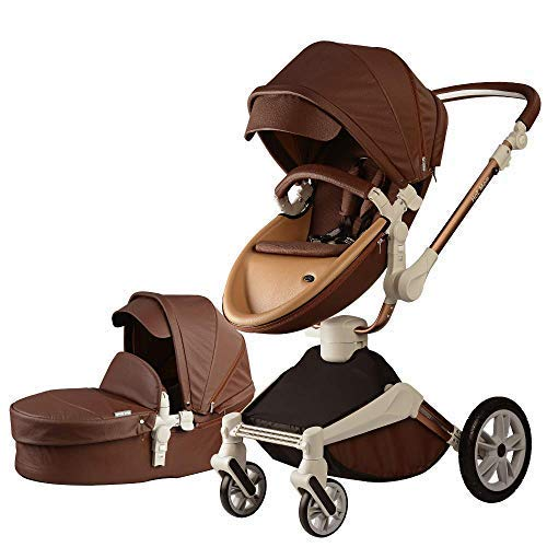 Baby Stroller 360 Rotation Function,Hot Mom Baby Carriage Pushchair Pram 2020,Coffe