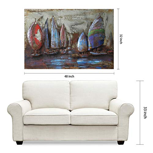 Empire Art Direct ''The Regatta 2'' Mixed Media Hand Painted Iron Wall Sculpture by Primo by Empire Art Direct (Image #5)
