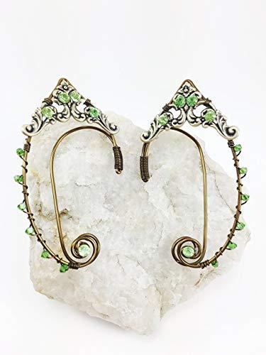 Elven Ear Cuffs Bronze GOLD Filigree, Fairy Ear Cuffs, Cosplay Elf Ear Cuffs, Fantasy Costume Ear Cuffs -
