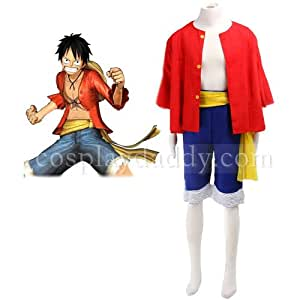 One Piece Luffy Cosplay Costumes Two Years Later Uniform