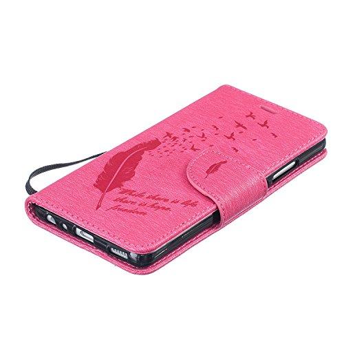 Para Huawei P9 (5,2 pulgadas) Cáscara ZeWoo® Carcasa y Funda de PU Piel - BF061 / life hope freedom (negro) BF059