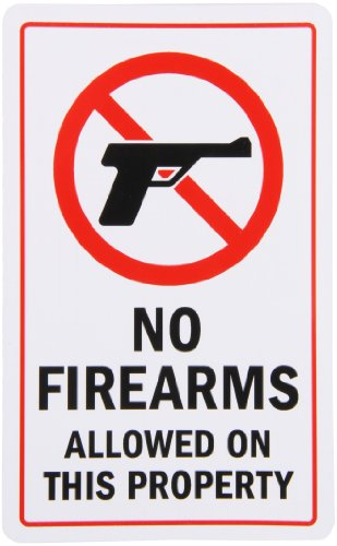 SmartSign Adhesive Firearms Allowed Property product image